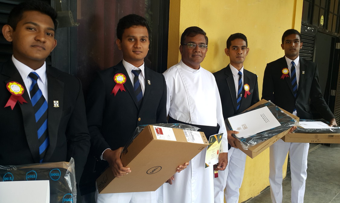 Students awarded laptops for best GCE (O/L) results